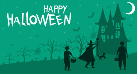 Happy Halloween Greeting Card 向量圖像