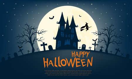 Happy Halloween Greeting Card Vettoriali