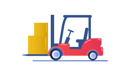 Forklift truck isolated on white background