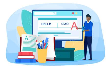 Translator and translation online service