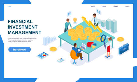 Concept of financial investment and management Иллюстрация