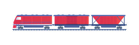 Freight Train isolated on white background