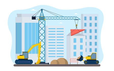 Process of construction in the city.