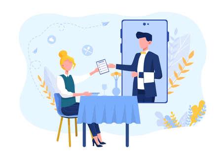 Online waiter service