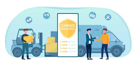 Cargo insurance concept Illusztráció