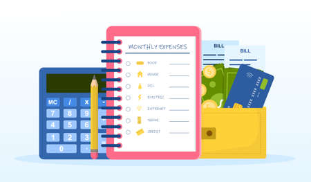 Checklist of monthly expenses
