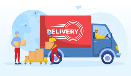 Multiracial delivery worker