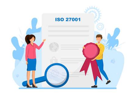 ISO 27001 certificate concept Vecteurs