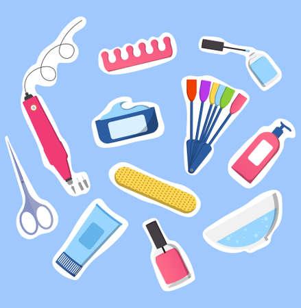 Set of manicure-pedicure tools