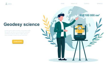 Geodesy science speaker Illusztráció