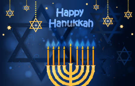 Happy hanukkah and passover card 向量圖像