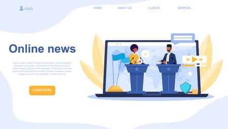 Online news service Illusztráció