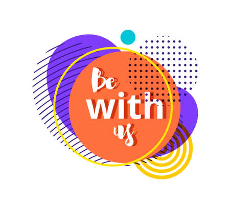 Be with us badge, label 向量圖像