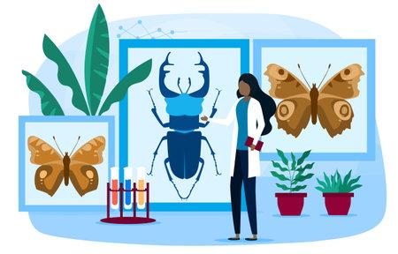 Biology, botany, zoology concept