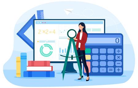 Math school online service or platform