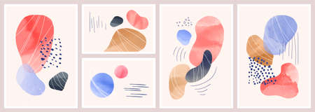 Abstract background with watercolor spots Ilustrace
