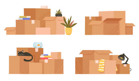 Moving and relocation concept.