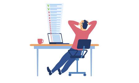 Deadline missing and bad time management Vektorové ilustrace