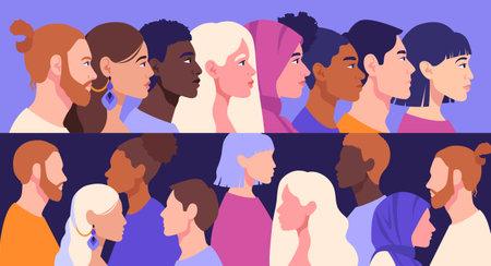 Racial diversity concept