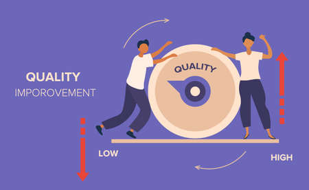 Quality management and Improvement abstract concept