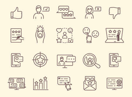 Collection of feedback icons