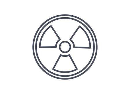 Radiation or radioactive material hazard or warning physics icon 向量圖像