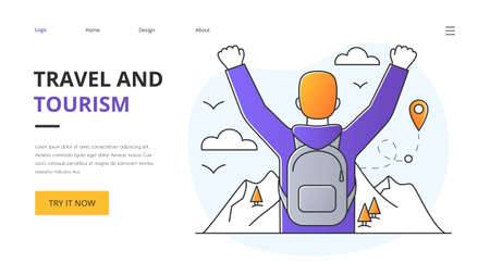 Travel and Tourism website landing page design