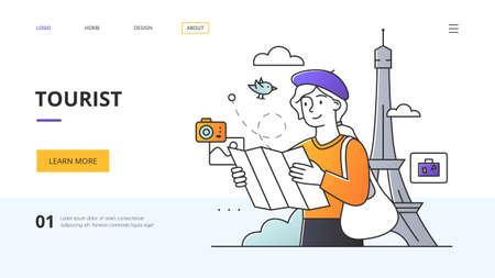 Tourist, Tourism and Travel website landing page design