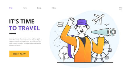 Its Time To Travel website design template