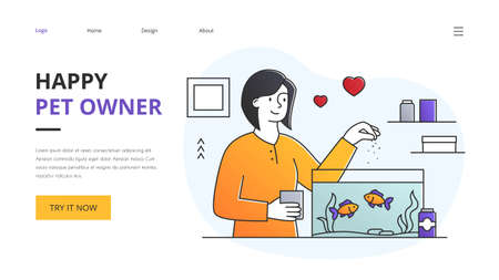 Website landing page design for a Happy Pet Owner