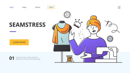 Website template for a seamstress or fashion designer