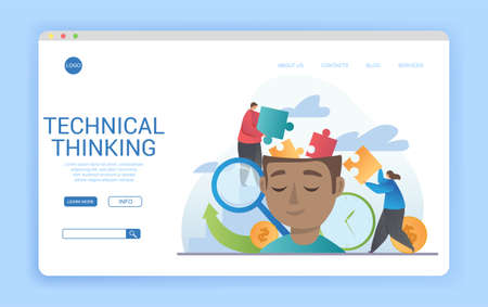 Technical Thinking website landing page template design