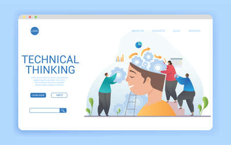 Design for a Technical Thinking landing page for website 向量圖像