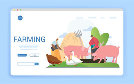 Website template for livestock farming or agriculture