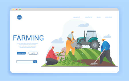 Web page template design for agriculture and agronomy