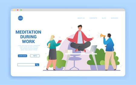 Workplace meditation concept website design