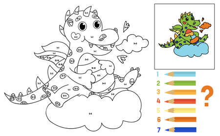 Coloring book for kids. Math for children