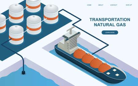 Huge tanker is transporting natural gas