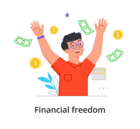 Financial freedom concept Ilustração Vetorial
