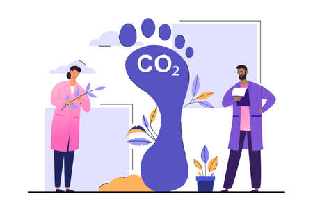 Dioxide greenhouse gases concept 向量圖像
