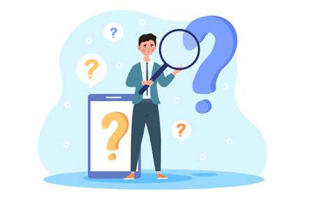 Ask a question concept