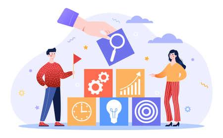 Company goal achievement concept Ilustración de vector