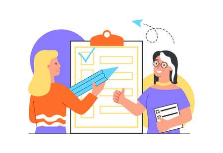Checklist with tasks concept Ilustração Vetorial