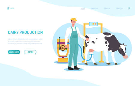 Concept Of Dairy Production Illustration