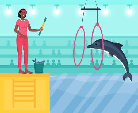 Performance in dolphinarium concept