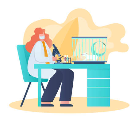 laboratory research concept Illustration