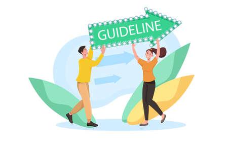 Brand communication guideline concept Banque d'images