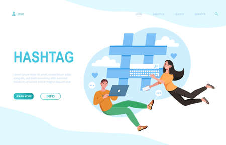 Landing page with hashtag