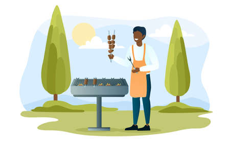 Cook on grill concept