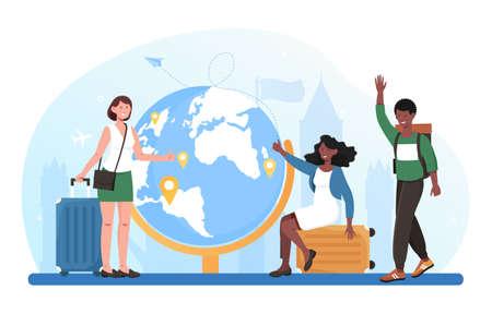 Travel around world concept